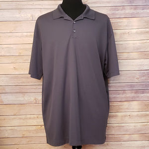 NIke Golf Dri Fit Gray Polo Athletic Shirt XXL 2XL